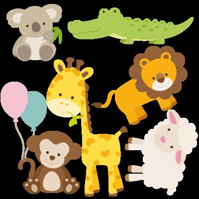 Adesivi cameretta bambini animali dello zoo anim4 - Animali terrestri per bambini ...