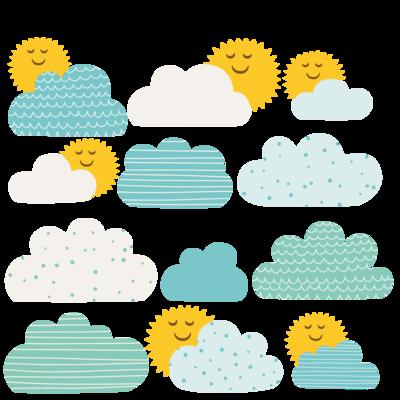 Adesivi Cameretta Bambini Sole e Nuvole - CIELO2 - LipsiaDESIGN