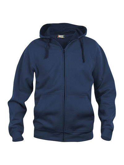 BASIC HOODY FULL ZIP MEN BLU SCURO 4XL