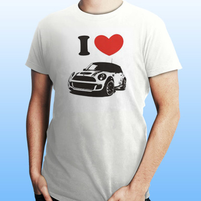No Trad. T-shirt Mini Cooper I Love Mini